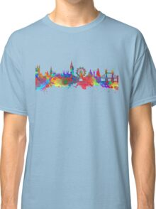 Watercolor art print of the skyline of London Classic T-Shirt