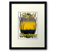 Son Worshiper Framed Print