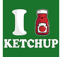 I Heart Ketchup Photographic Print