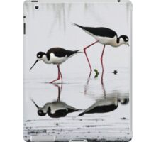 Black necked Stilts with reflection(My reflection is better than yours!) iPad Case/Skin