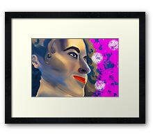 Retro fashion woman portrait Framed Print