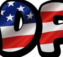 ADPi  USA Bubble Letters Sticker