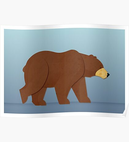 Paper Bear Poster
