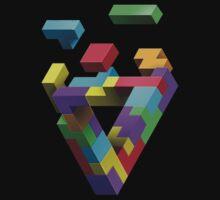 Penrose Tetris One Piece - Short Sleeve