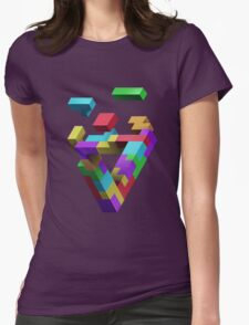 Penrose Tetris Womens Fitted T-Shirt