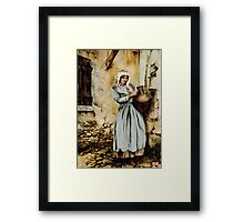 Water carrier - coloured drawing Framed Print