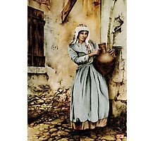 Water carrier - coloured drawing Photographic Print