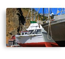 Boats In Drydock Canvas Print