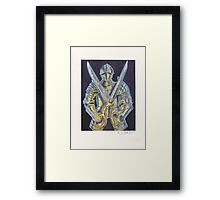 Knight and Scissors Framed Print