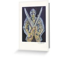 Knight and Scissors Greeting Card