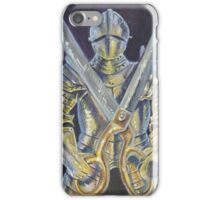 Knight and Scissors iPhone Case/Skin