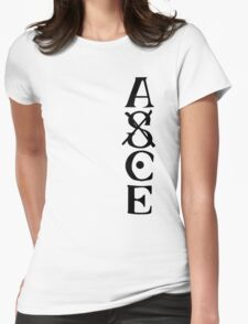 Ace Tatto - Black on White Womens Fitted T-Shirt
