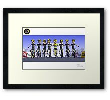 #PolyPeloton : Chris Froome Wins Framed Print