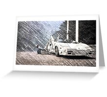 Wolf of Wall Street Poster Greeting Card