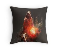 Acolyte of Embers Throw Pillow