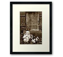 Little Mattie Died Framed Print