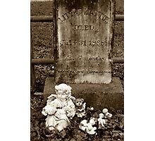 Little Mattie Died Photographic Print