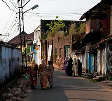 Walking Bazar Road by Syd Winer