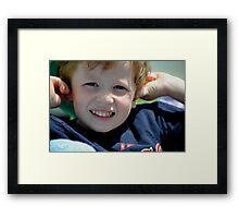 Crackers In The Ears To Keep the Noise Out Framed Print