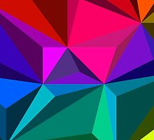 Colorful abstract illustration, low poly style by kavunchik
