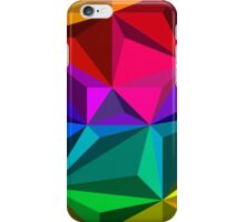 Colorful abstract illustration, low poly style iPhone Case/Skin