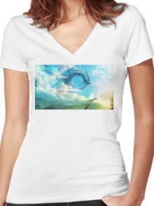 The Storm King Women's Fitted V-Neck T-Shirt