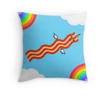 Magical Baconicorn (no text) Throw Pillow