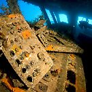 on the bridge - Wreck of the Zenobia  by PatrickNeumann
