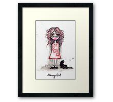 Library Girl Framed Print