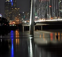 Trinity River  and Dallas by becky-lou