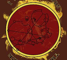 """I see fire inside the mountain"" in Gallifreyan by reddesilets"