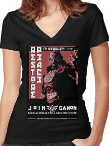 Ganondorf Propaganda Poster Women's Fitted V-Neck T-Shirt