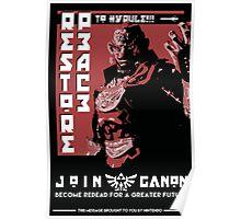 Ganondorf Propaganda Poster Poster