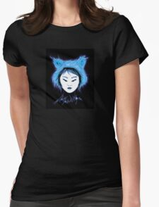 Cat Tee -Not your Kitty- Goth Inuit Blue T-Shirt