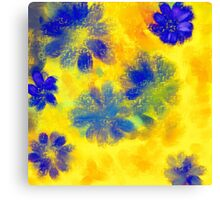 Impressionistic illustration of spring and summer flowers Canvas Print