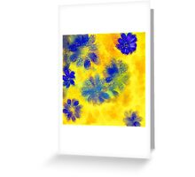 Impressionistic illustration of spring and summer flowers Greeting Card