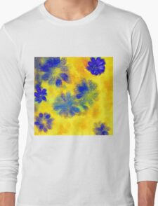 Impressionistic illustration of spring and summer flowers Long Sleeve T-Shirt