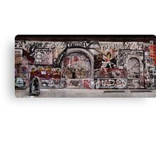 New York Street Art Panoramic Canvas Print