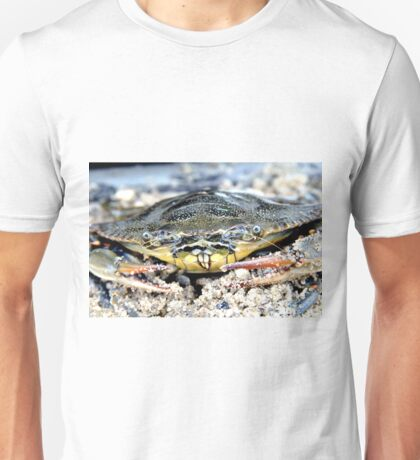 Blue Claw Crab in the Sand Unisex T-Shirt