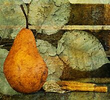 Pear and Leaves by Barbara Ingersoll