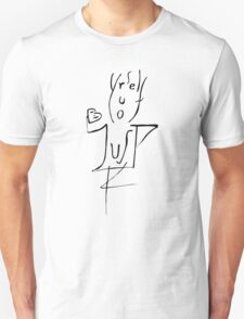 Just Be Yourself - Funny Typography Figure Unisex T-Shirt