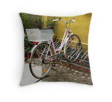Riding Pink Throw Pillow