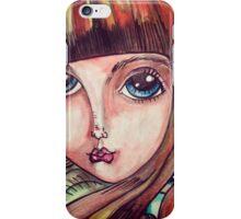 Big eyed forest girl iPhone Case/Skin