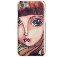 Big eyed forest girl iPhone Case/Skin