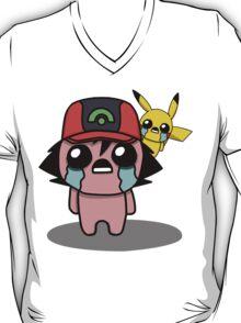The Binding Of Isaac/Pokémon Crossover - Ash Ketchum and Pikachu (Hoenn) T-Shirt