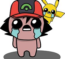 The Binding Of Isaac/Pokémon Crossover - Ash Ketchum and Pikachu (Hoenn) by Trick6