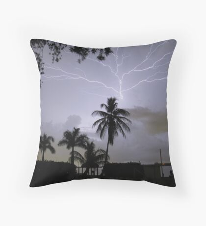 Ride the Lightning Throw Pillow