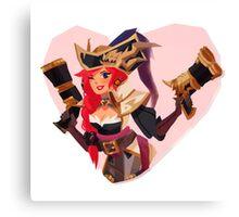 Captain miss fortune Canvas Print
