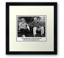 Joan and Ken Framed Print