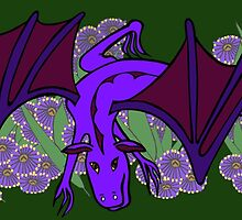 Purple Dragon at play by Anne van Alkemade